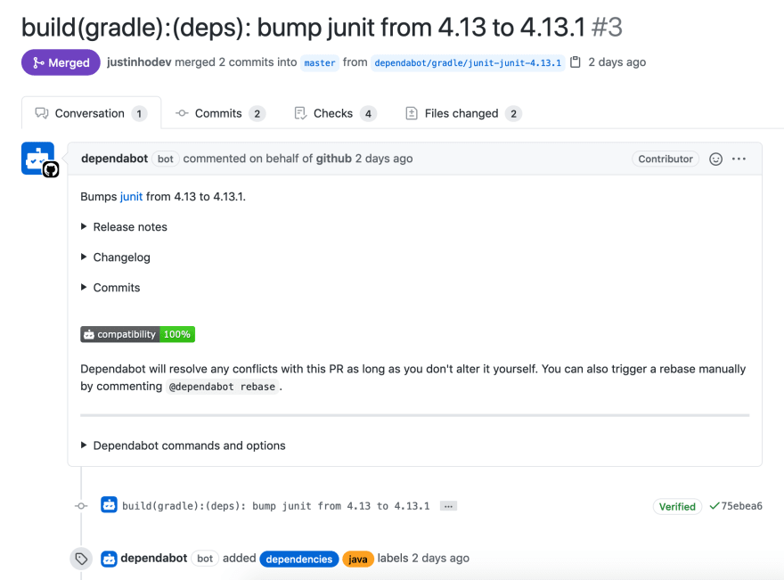 Dependabot Automated Pull Request to Update Dependency