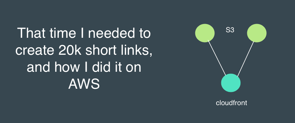 Cover image for That time I needed to create 20k short links, and how to create them on AWS