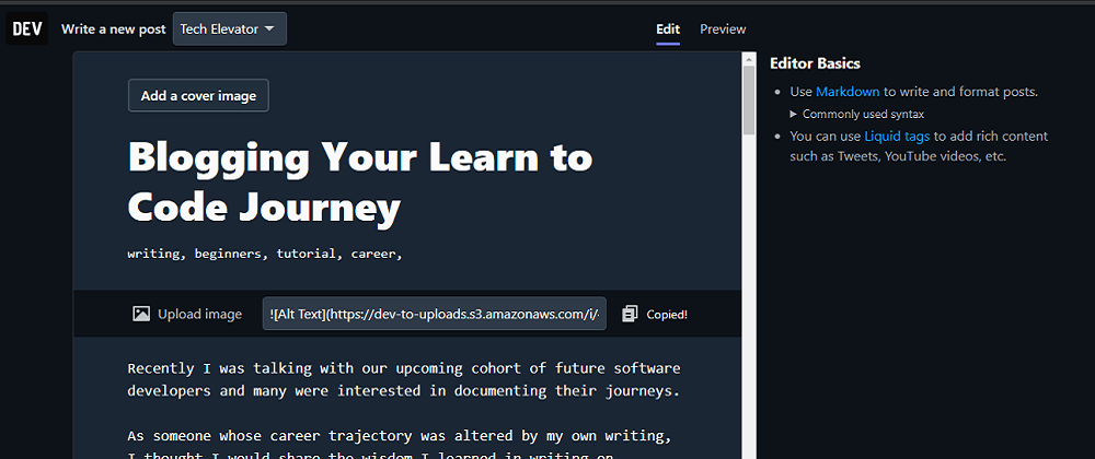 Cover image for Blogging Your Learn to Code Journey