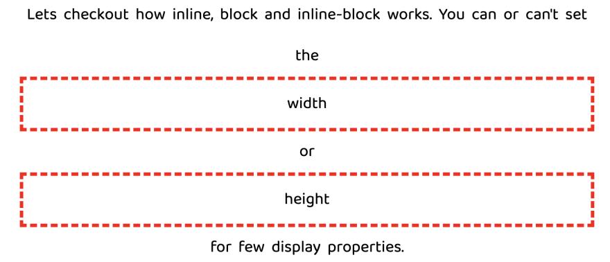 css display block