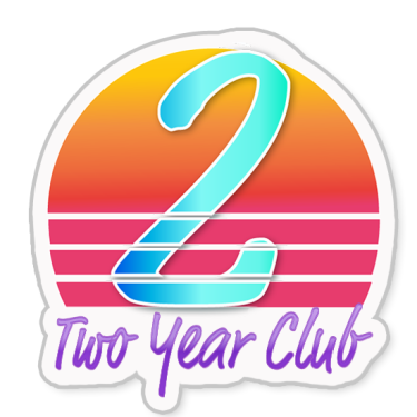 Two Year Club badge