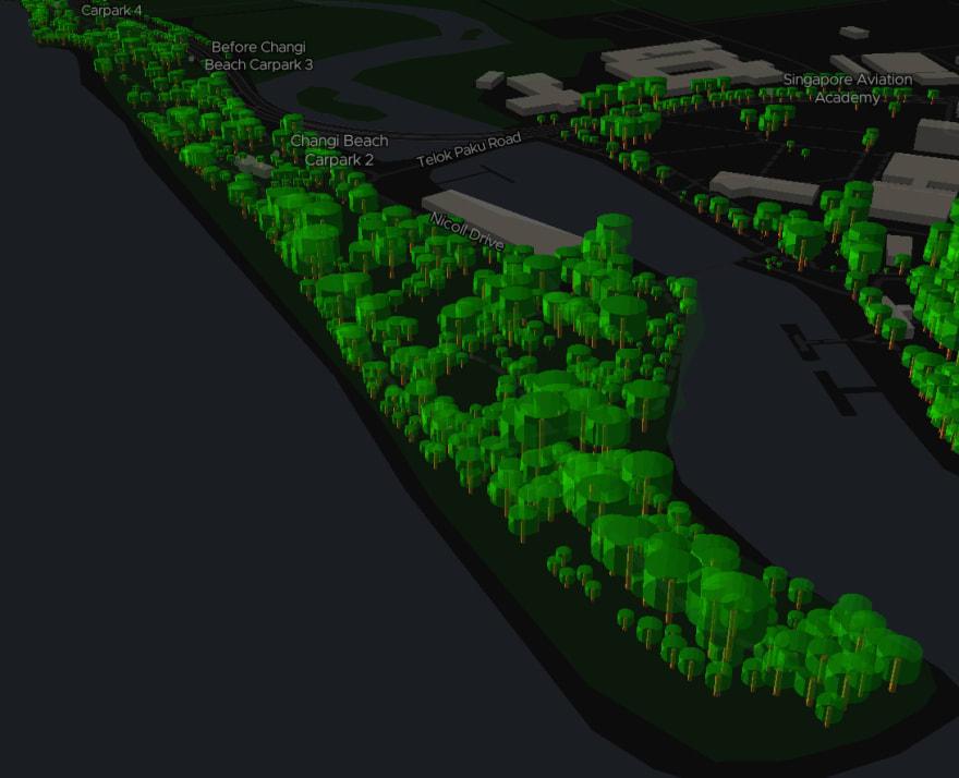 ExploreTrees.SG faux 3D trees — trees on Changi Beach Park