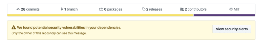 github security vulnerability bot alert