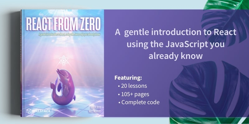 React From Zero Book Banner