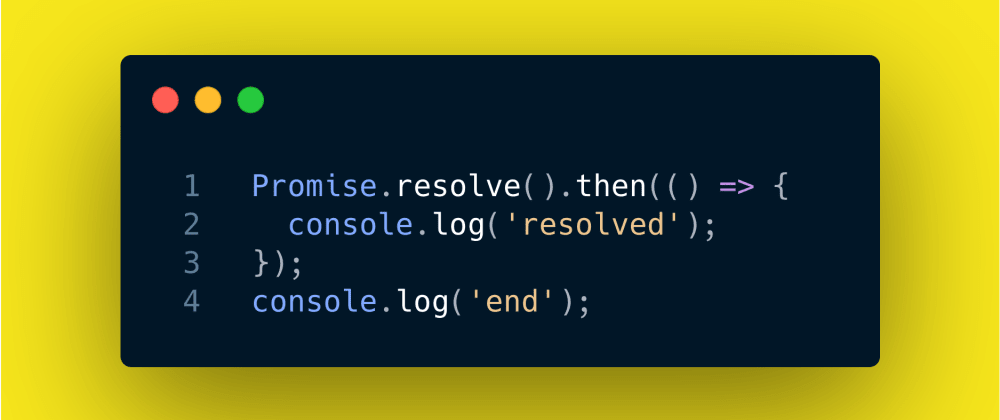 Cover image for JavaScript Interview Question #25: Immediate Promise.resolve