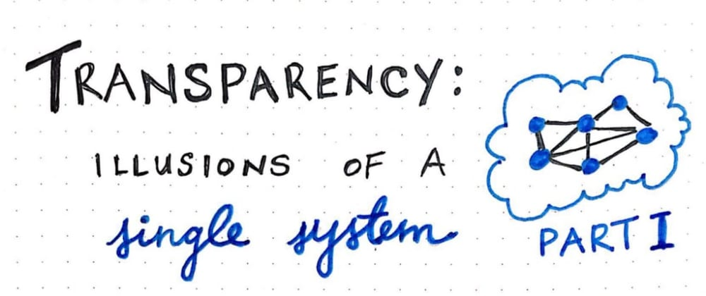 Cover image for Transparency: Illusions of a Single System (Part 1)