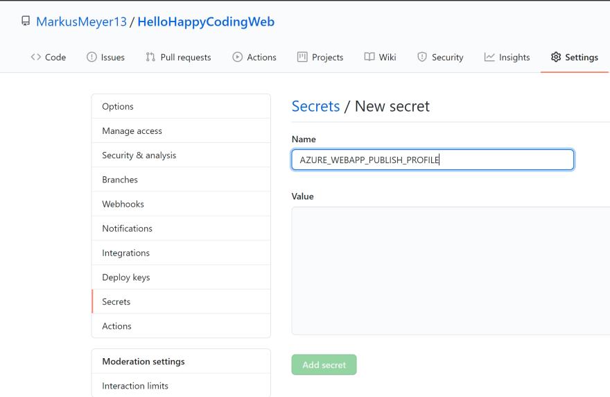 HelloHappyCoding-GitHubAction-Secret.png