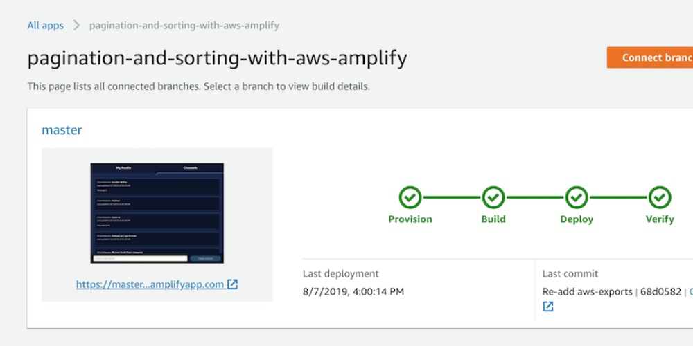 Pagination & Sorting with AWS Amplify - DEV Community
