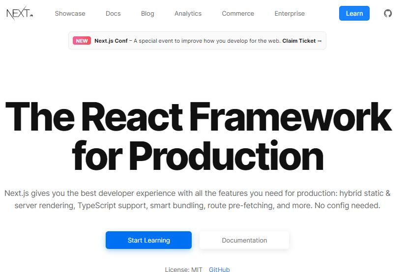 nextjs framework