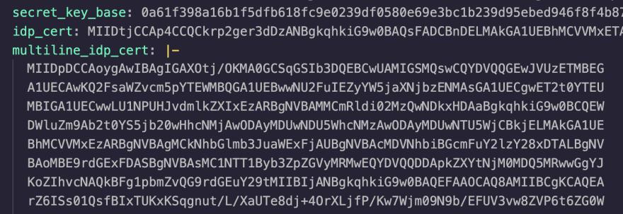 Rails credentials file