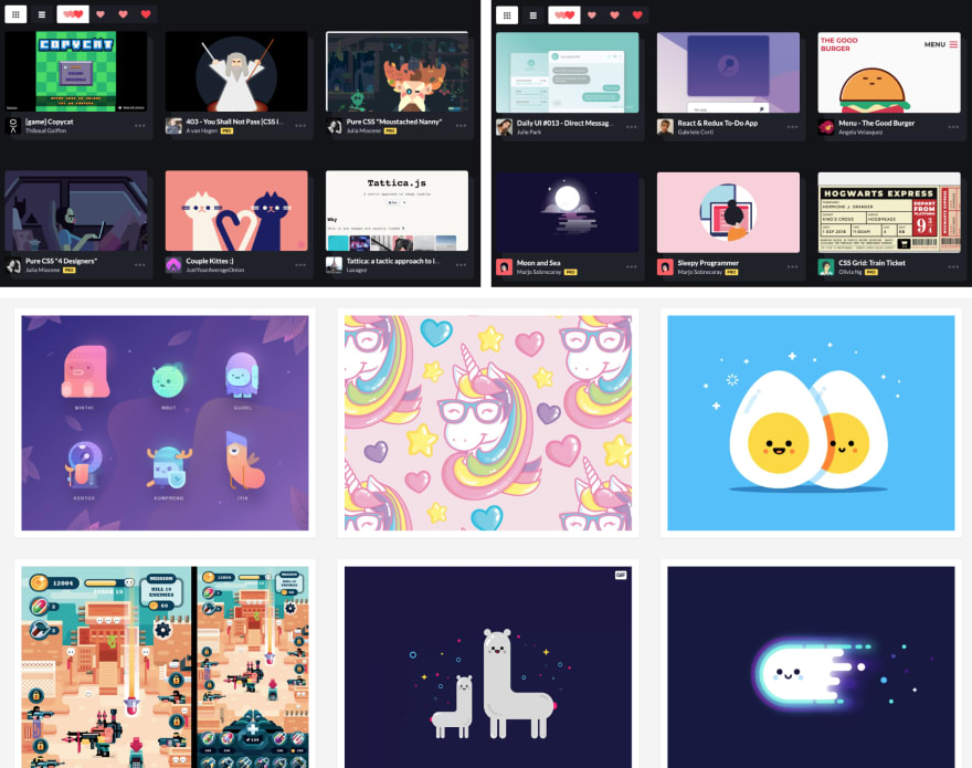 Animation Inspiration from CodePen and Dribbble