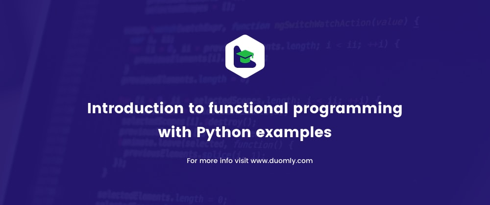 Cover image for Introduction to functional programming with Python examples