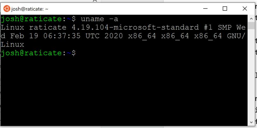 Ubuntu running on Windows