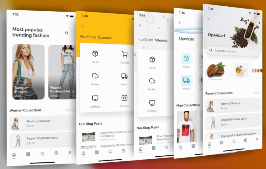 FluxStore – Flutter E-commerce Full App best flutter app templates