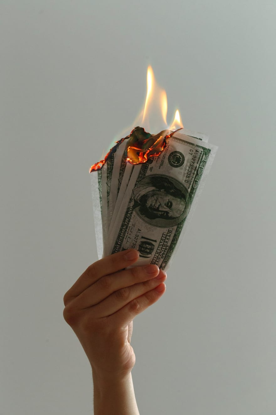 Malgastando dinero