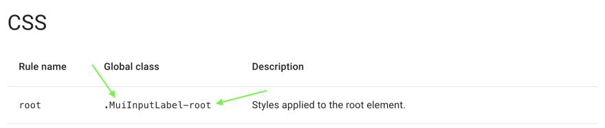MuiInputLabel root documentation screenshot