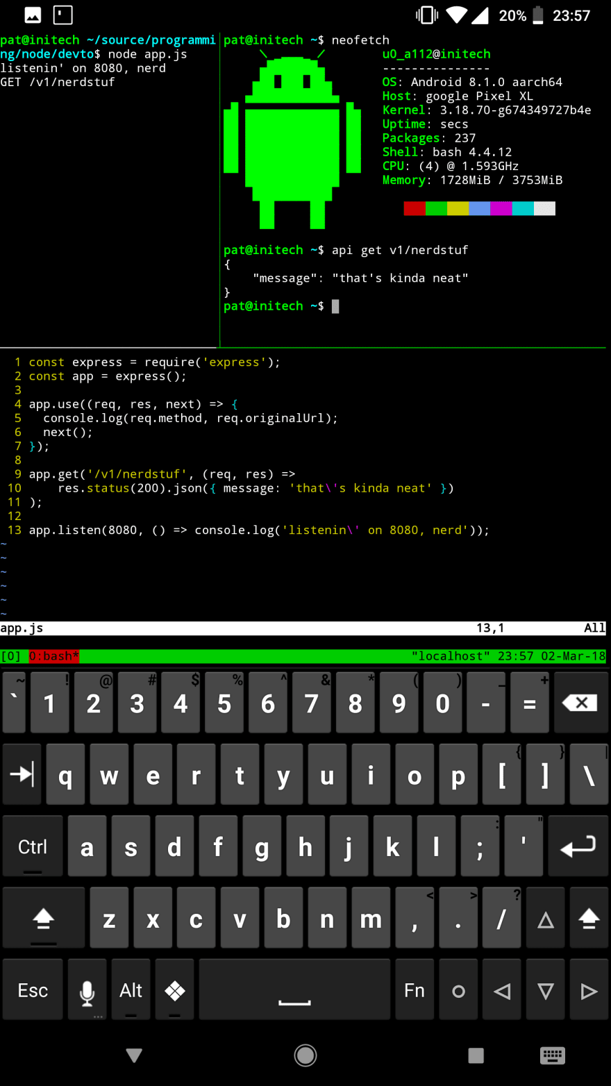 termux on android