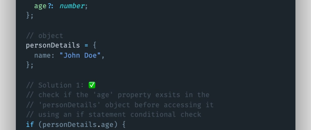 Cover image for How to avoid undefined values when using optional object properties in TypeScript?
