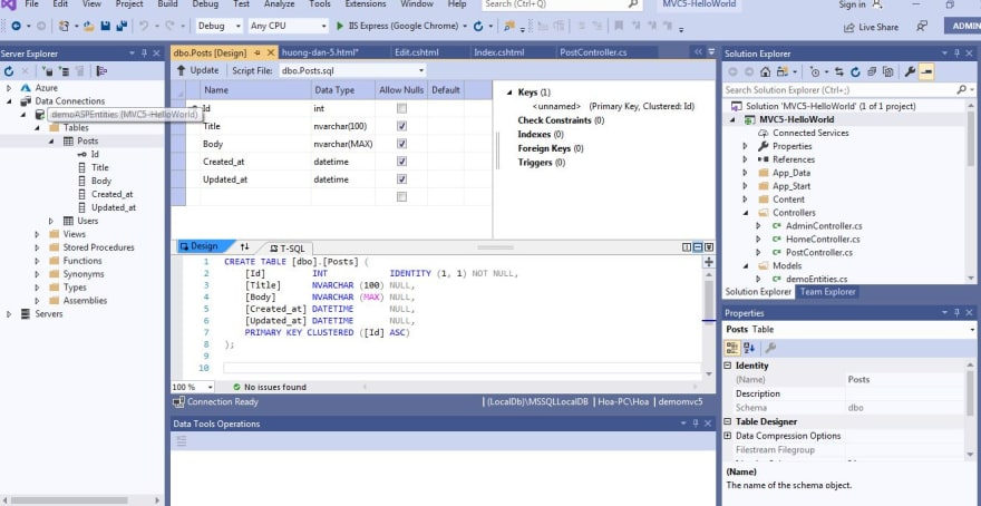 ASP.NET MVC 5 CRUD Tutorial With Example For Beginners - hoanguyenit.com