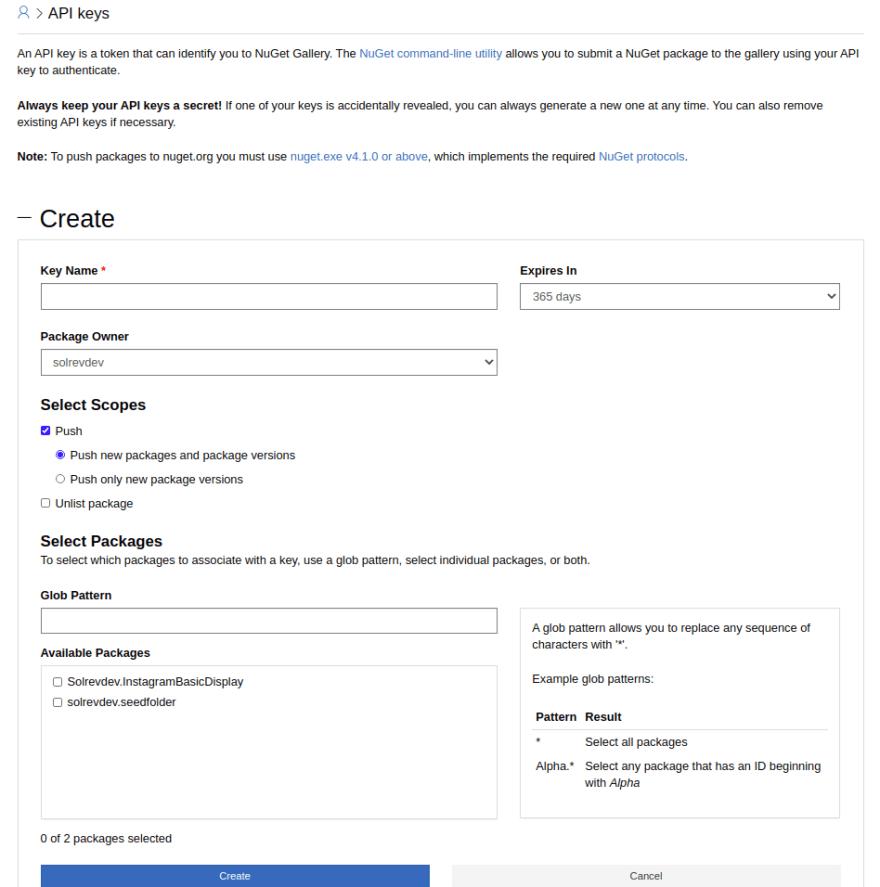 NuGet API Keys