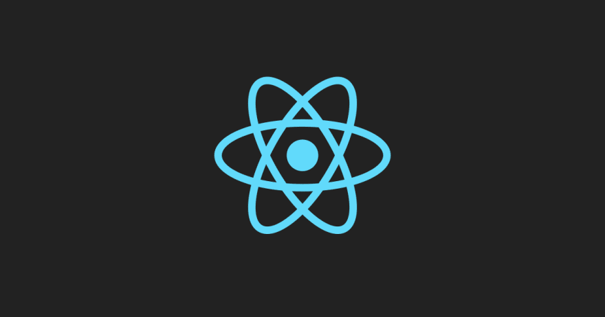 React Atom Logo in light blue on dark gray background.