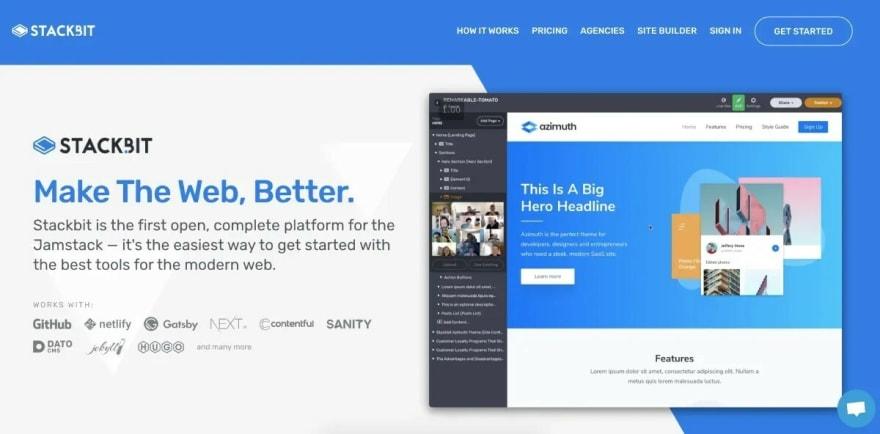 Stackbit website