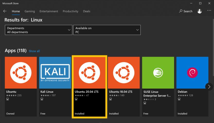 Linux | Home: Ubuntu 20.04 LTS Installed