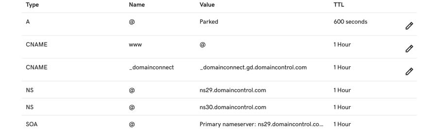 Preset DNS settings