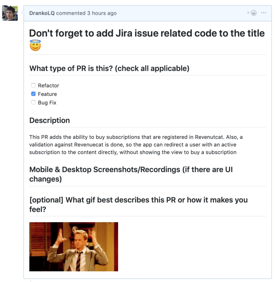 Improve code reviews using pull request templates - DEV Community