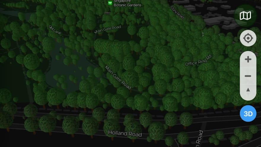 ExploreTrees.SG 3D realistic trees — the lighting before
