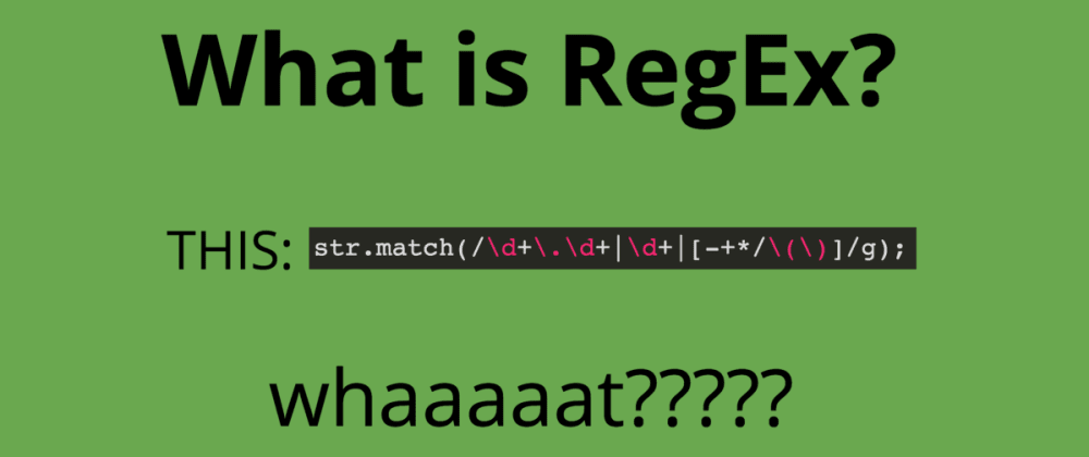 Cover image for Let's Talk About REGEX !!