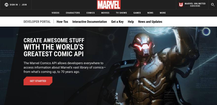 Marvel Comics API