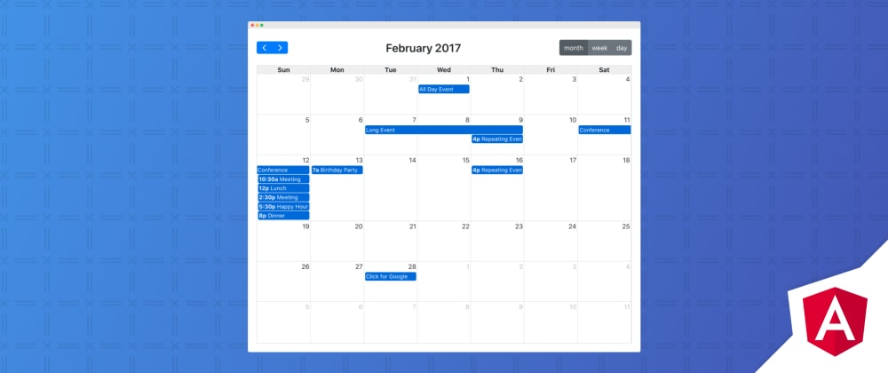 Cover image for Angular FullCalendar