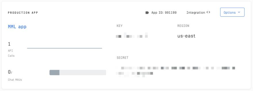 Stream Dashboard API Key and Secret
