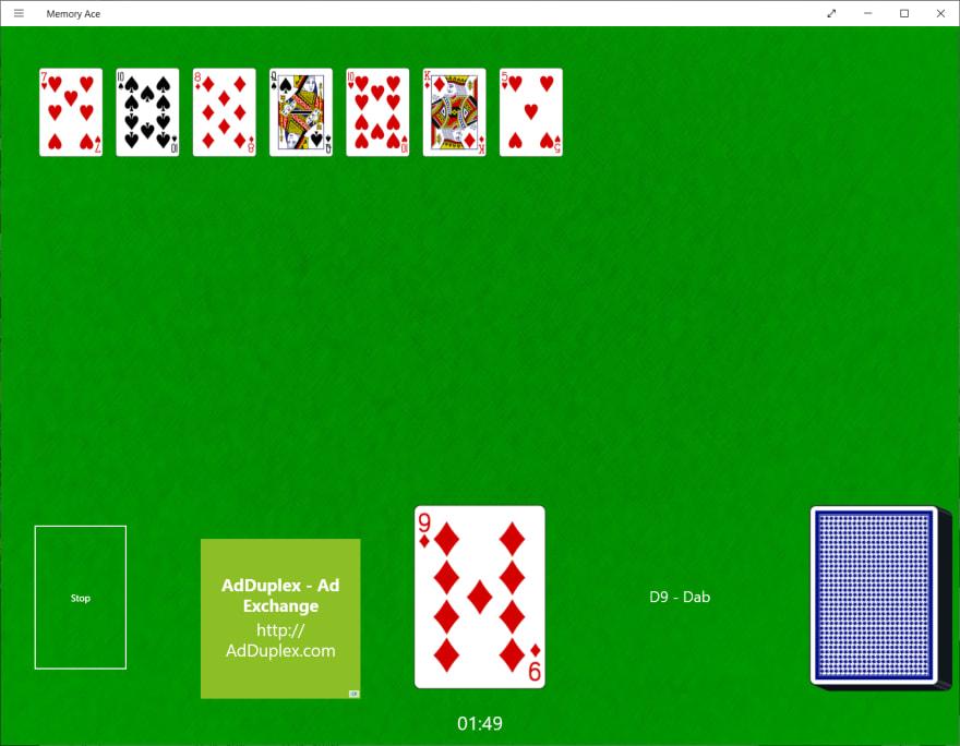 Memory ace screenshot