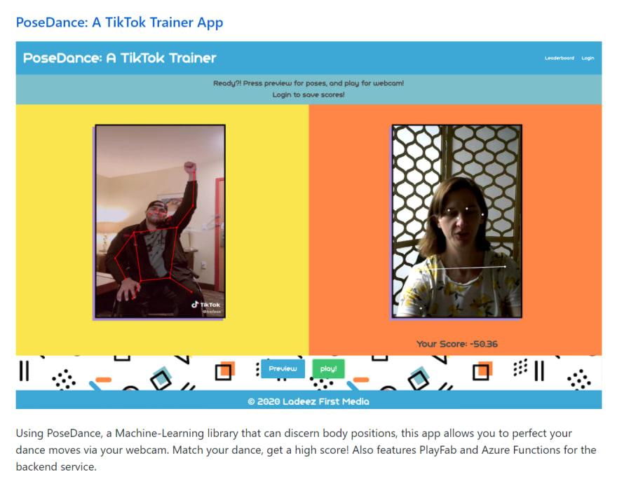 PoseDance: A TikTok Trainer App
