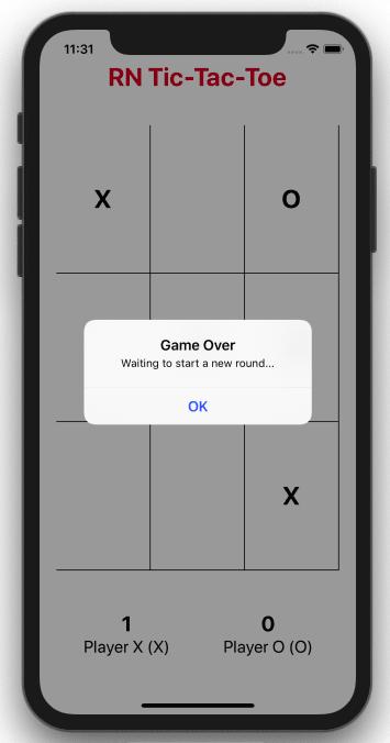 Game over alert for the opponent