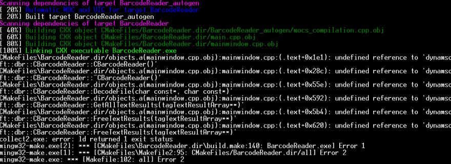 MinGW link error