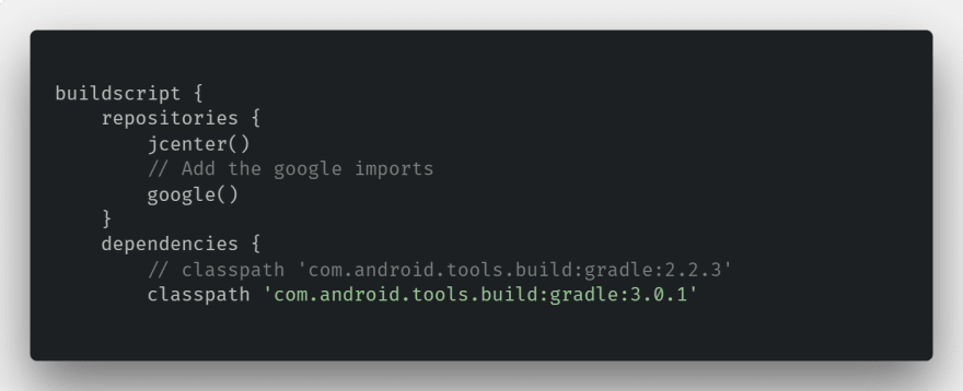 build.gradle in android