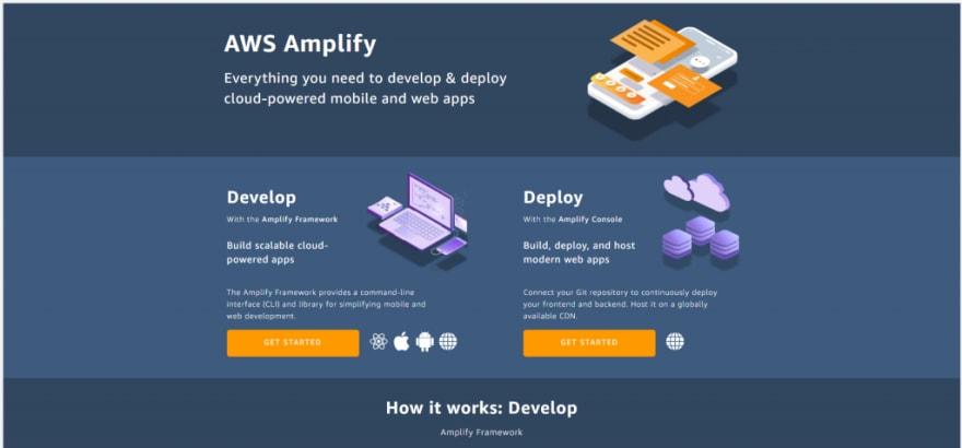 AWS Amplify service page