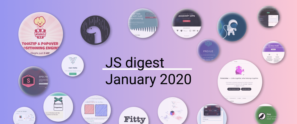 Cover image for 36 most popular JavaScript repositories on GitHub in January 2020