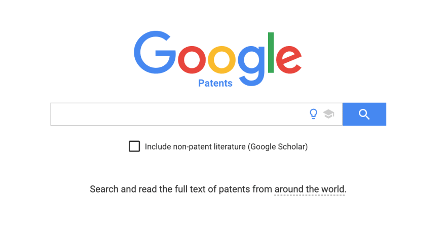 Google Patents simple search interface