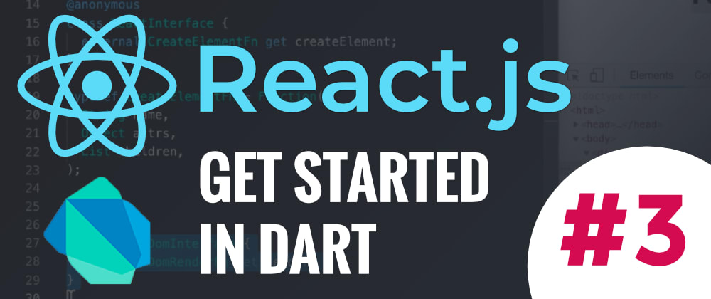 Cover image for React.js–Get started in Dart #3