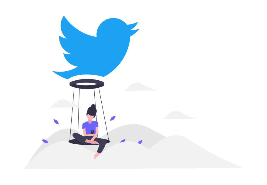 Twitter illustration from unDraw