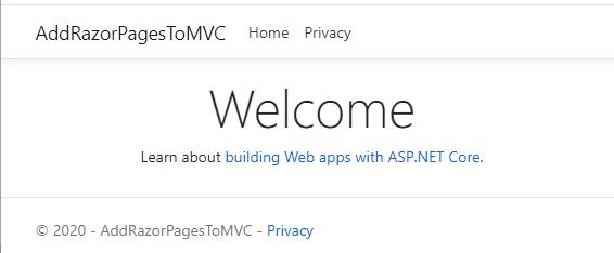Default MVC webapp