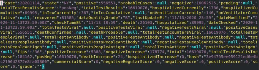 JSON file contents