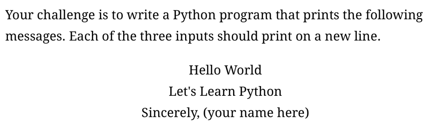 Challenge #1 from Level up your Python skills with these 6 challenges