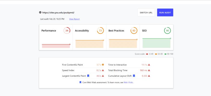 web dev kpmd audit