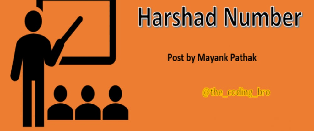 Cover image for Do you Know What is Harshad Number
