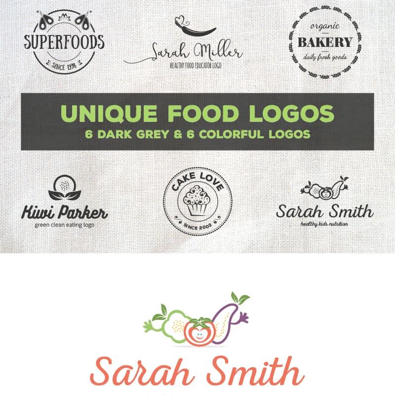 Unique Food Logo Templates